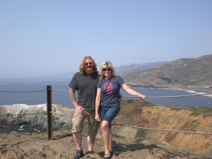 @robdale and I, over looking the Pacific at the Marin Headlands, CA