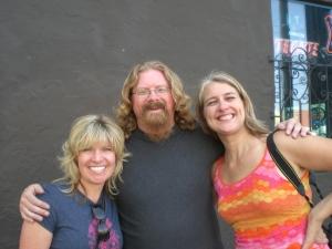 "Rob Dale, Christina Shook and I, "" Chicks on Bikes"" book signing at Bender's Bar SF CA"