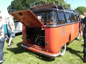 A barn door  23 window VW Bus